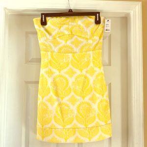 Delightful DVF strapless dress
